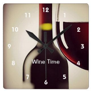 Reloj de pared del diseño de la botella y del