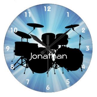 Reloj de pared del diseño del tambor
