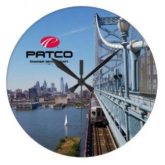 Reloj de pared del horizonte de PATCO Philadelphia