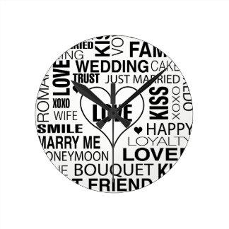Reloj de pared del novio de la novia del regalo de