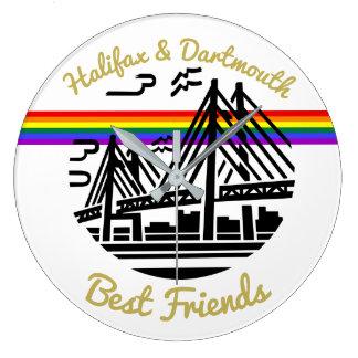 Reloj de pared del orgullo de los mejores amigos