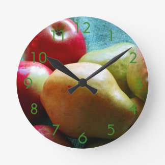 Reloj de pared del placer de la pera de Apple