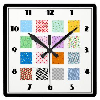 Reloj de pared del remiendo