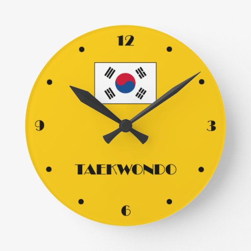 Reloj de pared del taekwondo zazzle - Relojes de diseno de pared ...