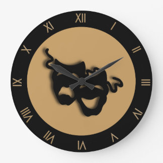 Reloj de pared del teatro de Brown del moreno de