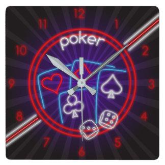 Reloj de pared del tiempo del póker