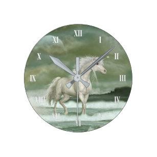 Relojes De Pared Del Unicornio Agua Zazzlees