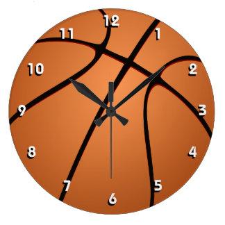 Reloj de pared deportivo de la bola del baloncesto