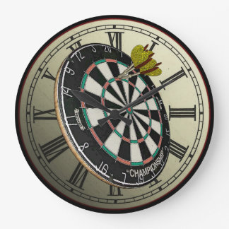 Reloj de pared divertido del diseño del Dartboard