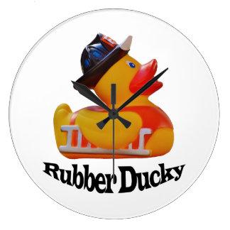 Reloj de pared Ducky de goma del bombero