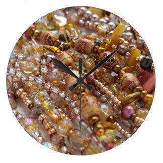 Reloj de pared Earthtones natural, impresión de