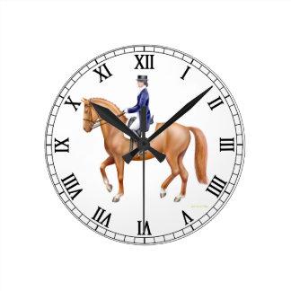Reloj de pared ecuestre del caballo del Dressage