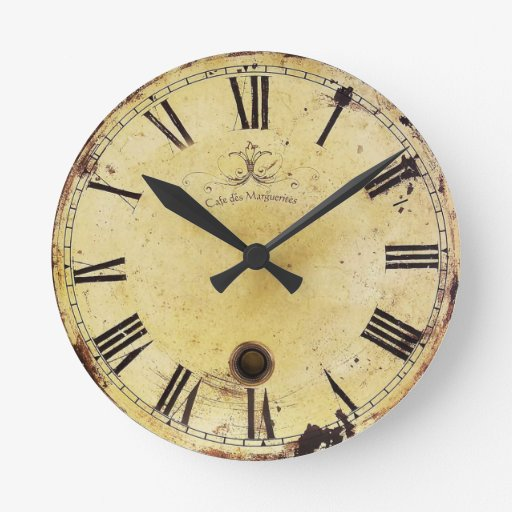 Reloj de pared elegante lamentable del vintage zazzle - Relojes de pared diseno ...