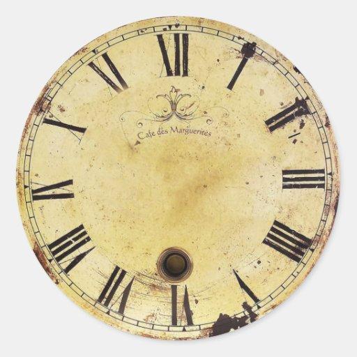 Reloj de pared elegante lamentable del vintage pegatina - Relojes vintage de pared ...