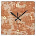 Reloj de pared francés de Toile del país del
