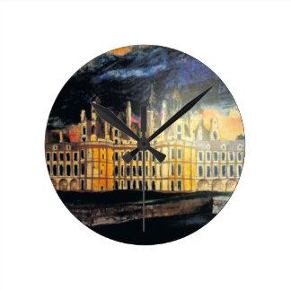 Reloj de pared francés del castillo francés
