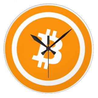 Reloj de pared (grande) redondo de Bitcoin