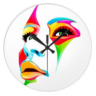 Reloj de pared (grande) redondo de la cara