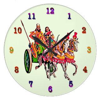 Reloj de pared (grande) redondo de los guerreros