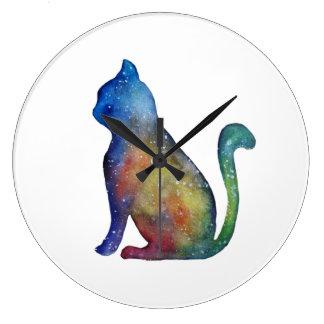 Reloj de pared (grande) redondo del gato