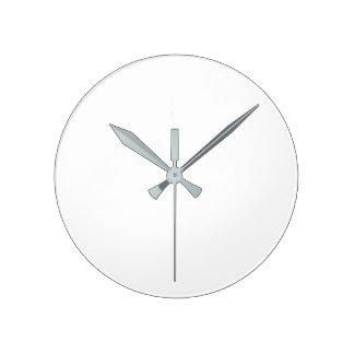 Reloj de pared (grande) redondo - manos grises