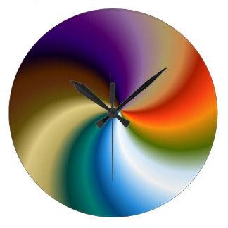 Reloj de pared grande redondo - remolino