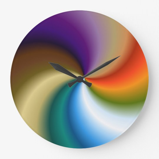 Reloj de pared grande redondo remolino zazzle - Relojes de pared grandes ...