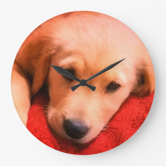 Reloj de pared (grande) redondo, Winston, perrito