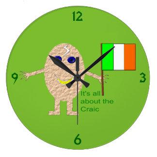 Reloj de pared irlandés patriótico del huevo
