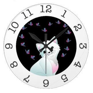 reloj de pared lindo del gatito