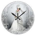 Reloj de pared lleno subió Victorian