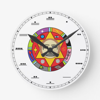 Reloj de pared maya del número