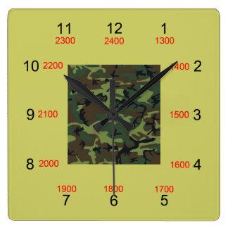 Reloj de pared militar de centro del tiempo de Cam