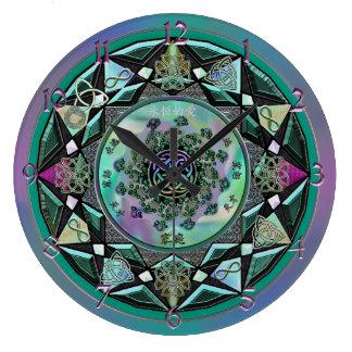 Reloj de pared místico céltico sabio grande de la