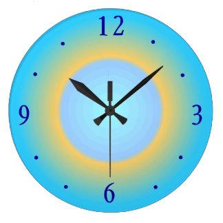Reloj de pared moderno azul de Yellow> de la aguam