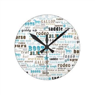 Reloj de pared occidental de Brown del trullo del