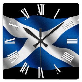 Reloj de pared patriótico escocés orgulloso de la