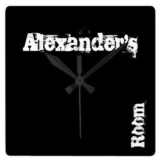Reloj de pared personalizado rasguño negro (cualqu