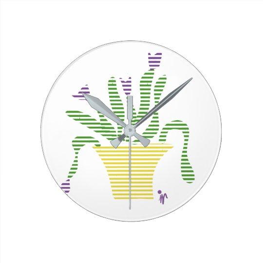 Reloj de pared Planta