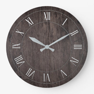 Reloj de pared redondo antiguo de madera del