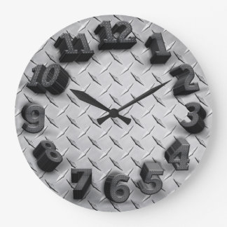reloj de pared redondo de la placa tridimensional
