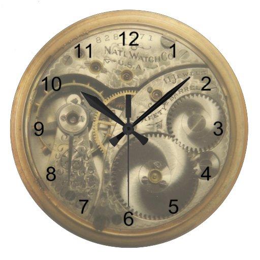 Reloj de pared redondo de watchworks del vintage zazzle - Reloj grande de pared ...