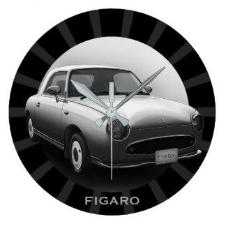 Reloj de pared redondo del coche clásico retro de