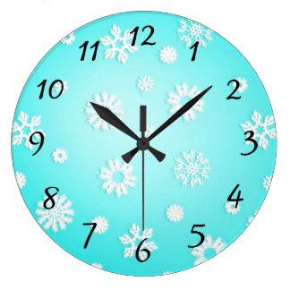 Reloj de pared redondo del modelo del copo de