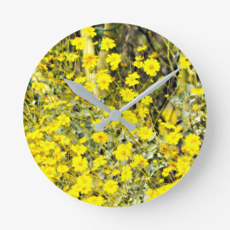 "Reloj de pared redondo del ""Wildflower"""