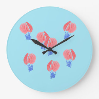 Reloj de pared redondo grande de los balones de
