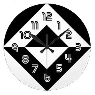 Reloj de pared redondo moderno blanco y negro