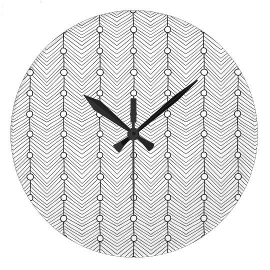 Reloj de pared retro abstracto negro y blanco del