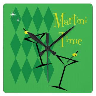 Reloj de pared retro de Martini