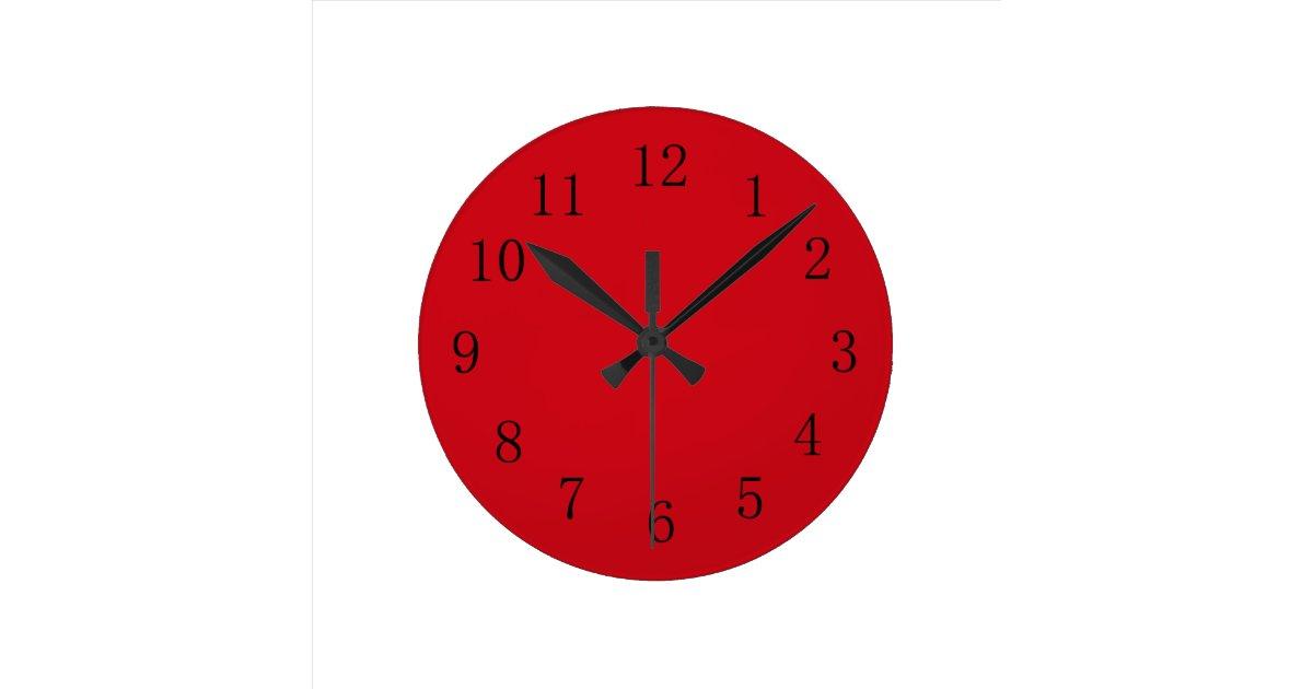 Reloj de pared rojo bermell n de la cocina zazzle - Reloj de pared para cocina ...